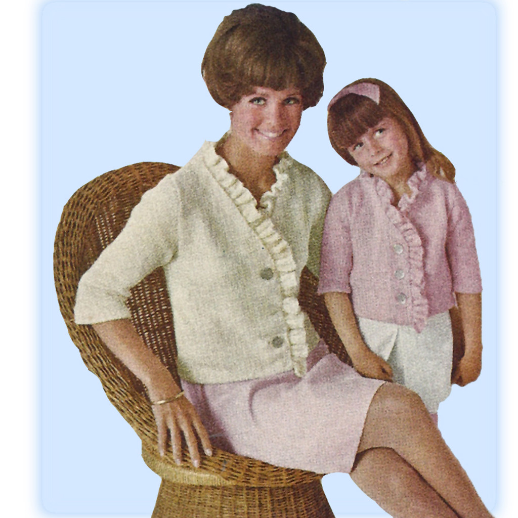 Vintage Mother Daughter Knitted Jackets Pattern