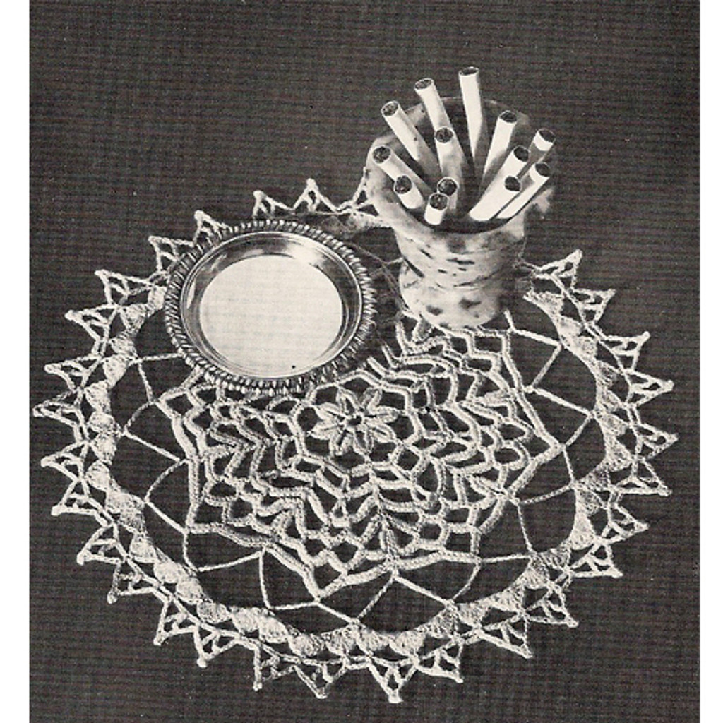 Coats & Clark's Forest Pool Crochet Doily Pattern