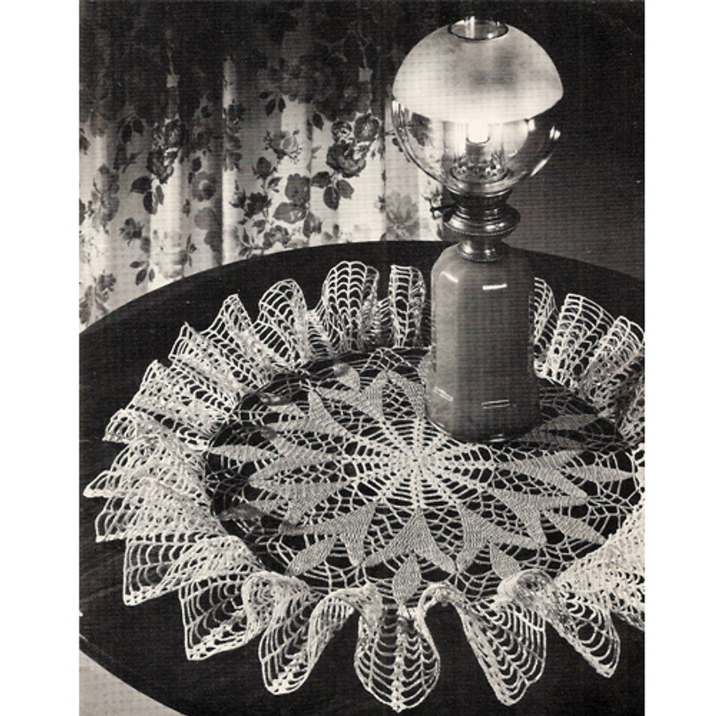 Crocheted Ruffle Doily Pattern, Spring Crocus