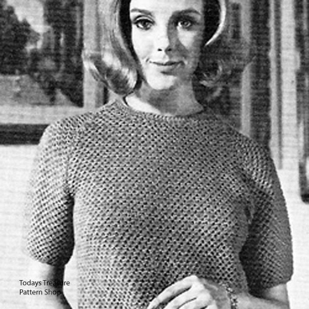 Short Sleeve Knit A-Line Dress Pattern