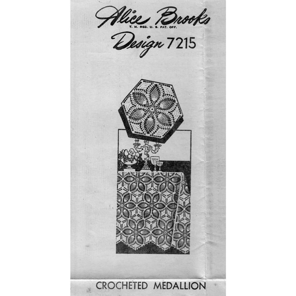 Alice Brooks 7215, Crochet Pineapple Medallion Pattern