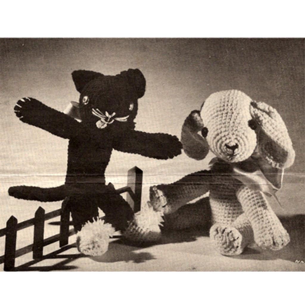 Crochet Dog and Cat Pattern