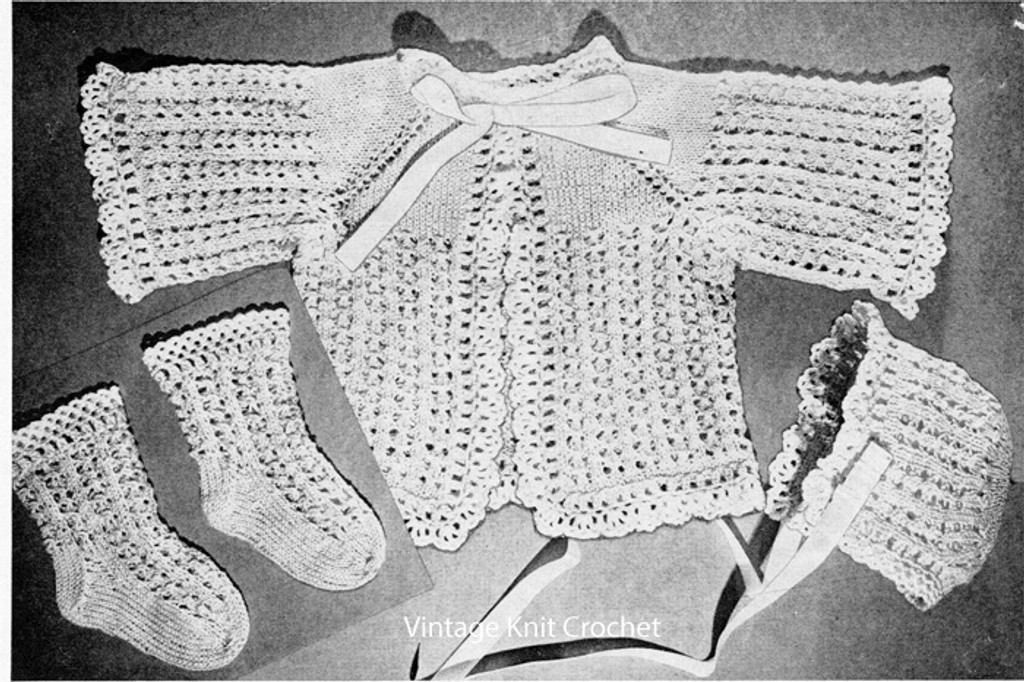 Infant Knitted Baby Set Pattern