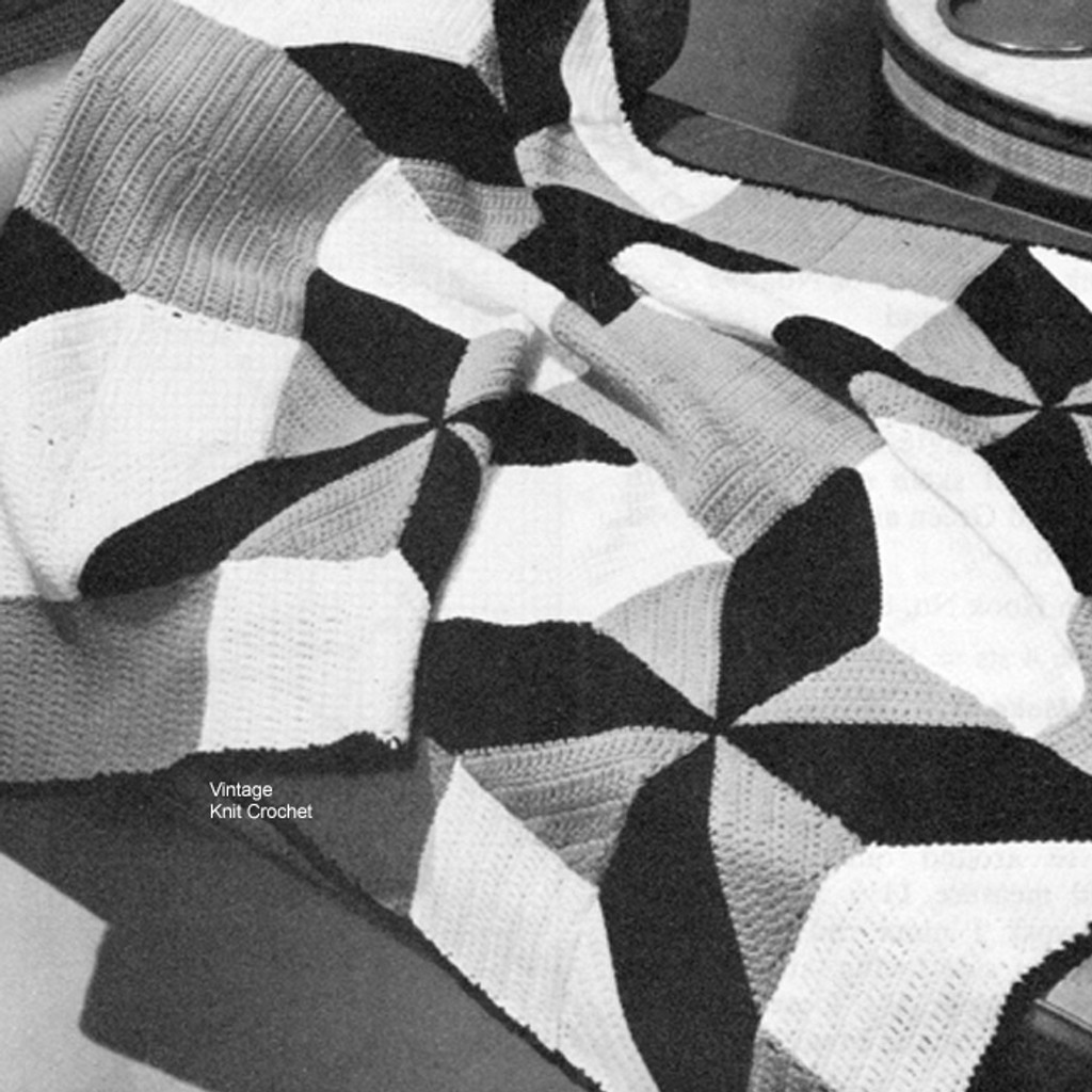 Vintage Crocheted Quilt Pattern Henry Clay Wheel