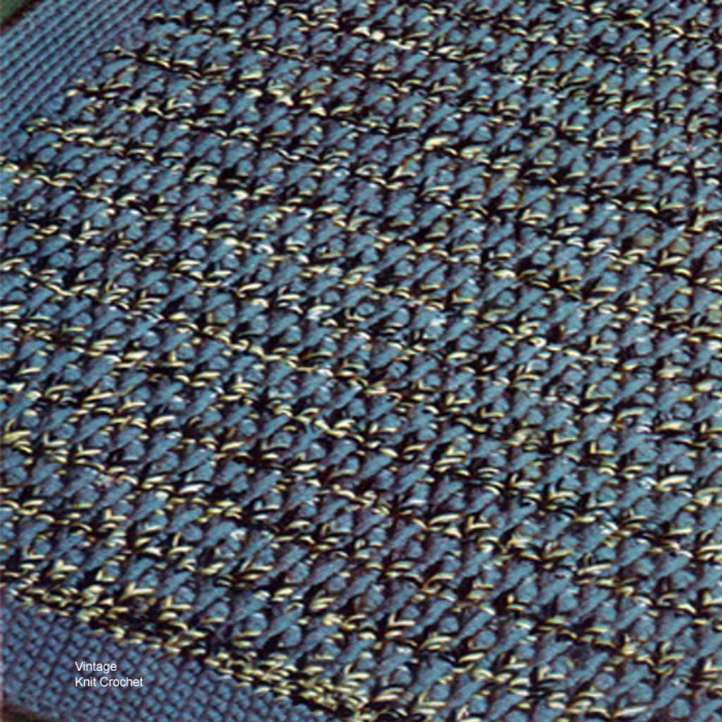 Vintage Tweed Crocheted Rug Pattern, Cape Cod