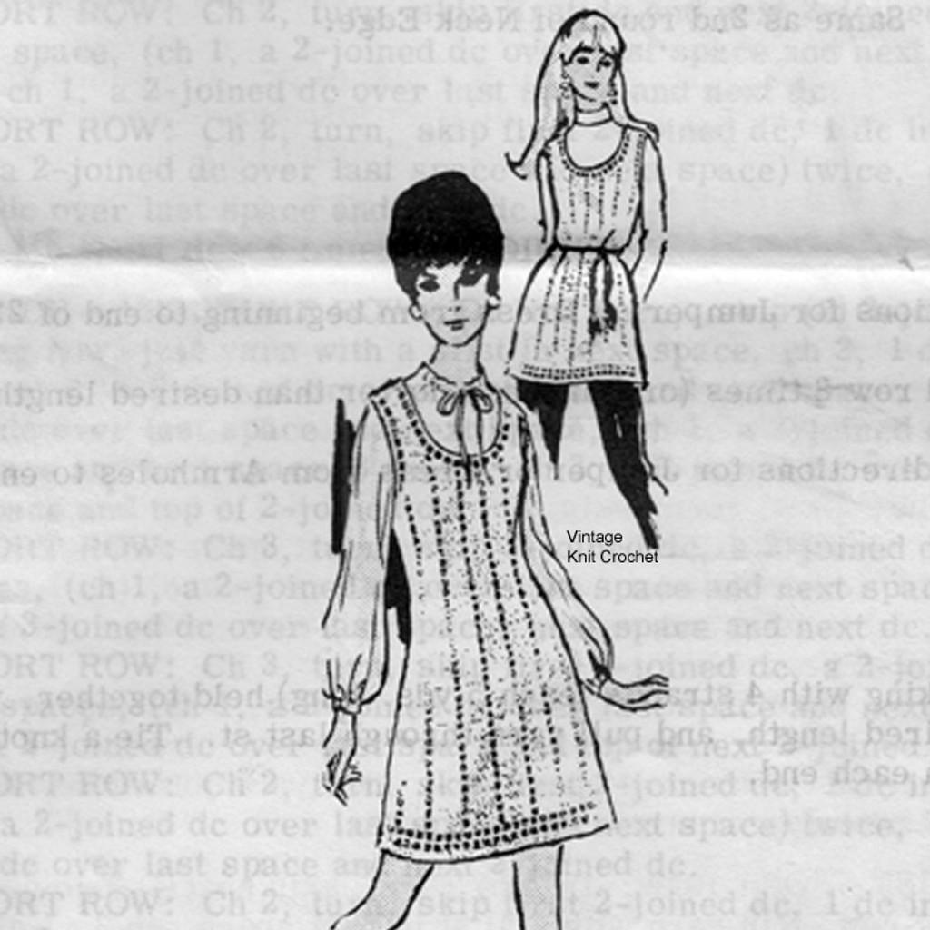 Mail Order Crochet Jumper Dress Pattern No 7384