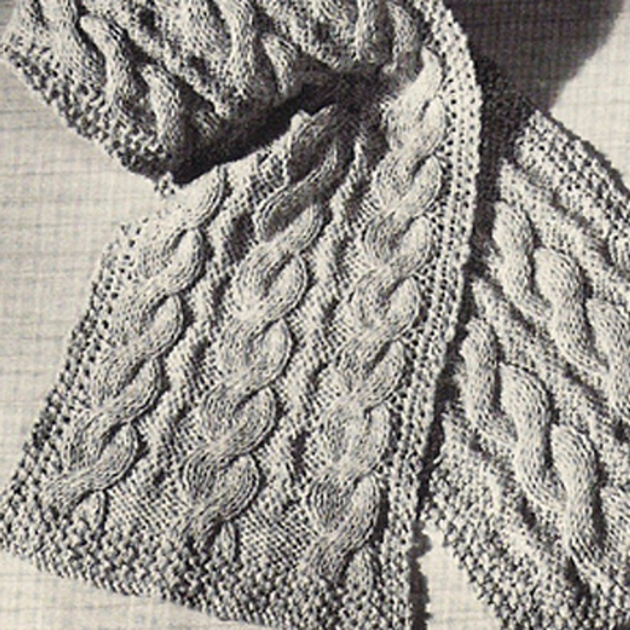 Easy Beginners Cable Scarf Free Knitting Pattern 12 X 54