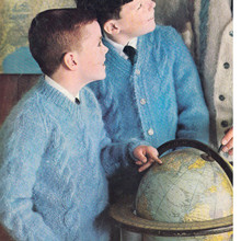Boys Blue Knitted Pullover Pattern from Columbia Minerva