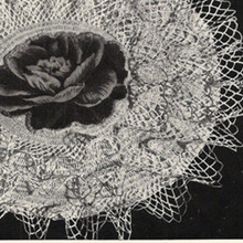 Rose Applique Doily, Ruffled Crochet Pattern