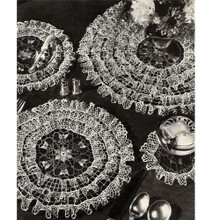 Crocheted Rows of Ruffles Luncheon Set Pattern