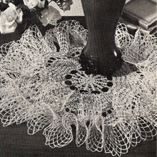 Tall Ruffled Crochet Doily Pattern A-399