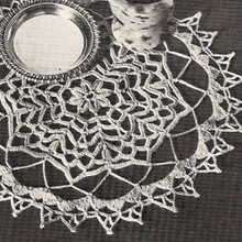 Vintage Crochet Doily Pattern, Forest Pool