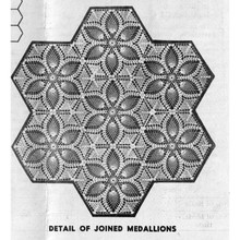 Joined Pineapple Medallions Pattern for Tablecloth