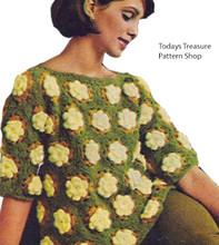 Vintage Flower Crocheted Sweater pattern