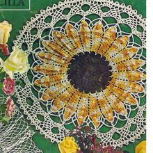 Large Sunflower Crochet Doily Pattern