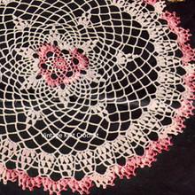Vintage Crochet Shaded Pink Doily Pattern