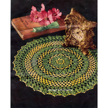 Vintage Two Color Crochet Doily Pattern