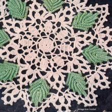 Vintage Crocheted Leaf Doily Pattern