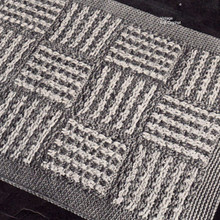 Vintage Crocheted 15 Block Rug Pattern from American Thread