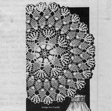 Mail Order Pineapple Doily in six sizes.