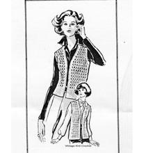 Long Crochet Vest Pattern, Mail Order 7219