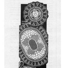 Large Oval Filet Crochet Doily, Alice Brooks 7291