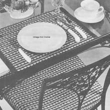 Design of Month, Coats Clarks Crochet Woven Mats Pattern