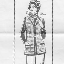 Mail Order 649, Womans Crochet Vest Pattern