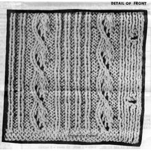 Knitted Cable Rib Pattern Stitch Illustration