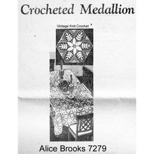 Crocheted Hexagon Medallion for Cloth, Scarves, Mail Order 7279