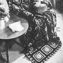 Crocheted Colorful Granny Afghan Pattern No 5210