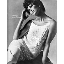 Sequined Dress Knitting pattern with rhinestone trim