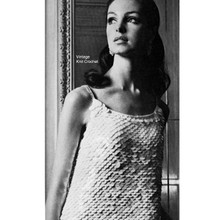Knitted Evening Dress Pattern, Paillettes and Rhinestones.