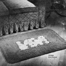Vintage Crochet Flower Rug Pattern