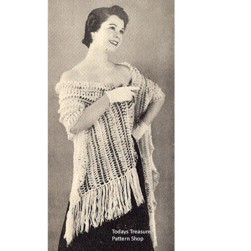 Long Striped Hairpin Lace Stole Pattern