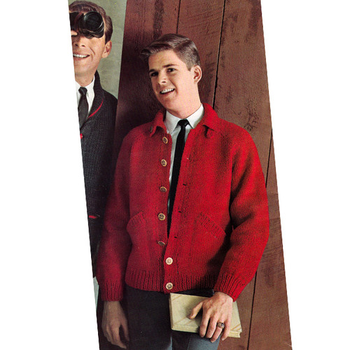 Teen Knitted Jacket Pattern, Vintage 1960s