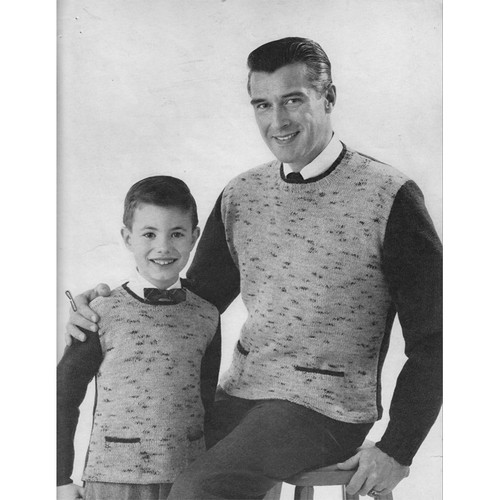 Boys Knitted Tweed Pullover Pattern