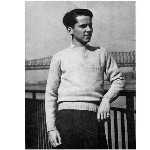 Teen Vintage Knit Raglan Sweater Pattern