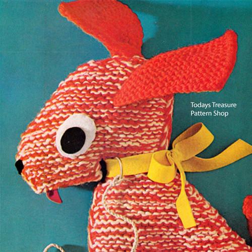 Stuffed Dog Pattern, Basset Hound Knitting Pattern