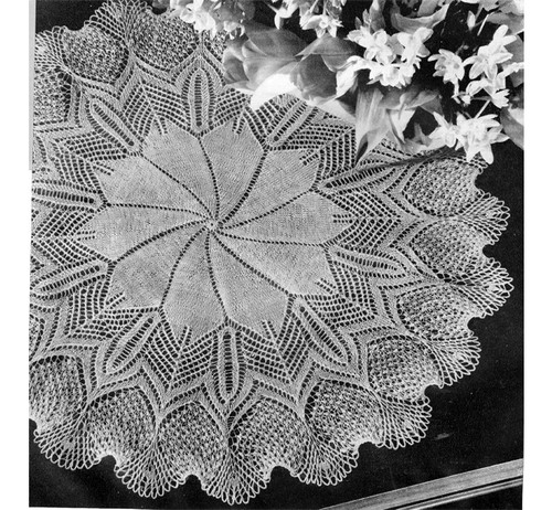 Knitted Pineapple Doily Pattern