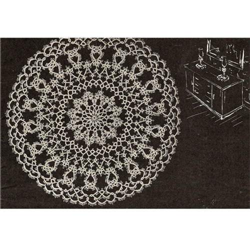 Vintage American Thread Tatted Doily Pattern