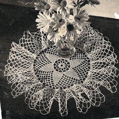 Crochet Ruffled Star Doily Pattern