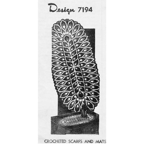 Mail Order 7194, Pineapple Runner Crochet Pattern