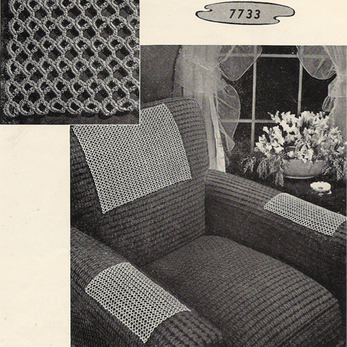 Crochet Honeycomb Chair Set Pattern