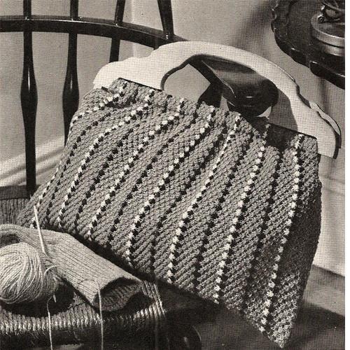 Wood Handle Bag Knitting Pattern