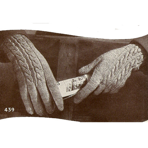 Knitting Pattern Womens Cable Gloves
