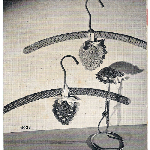 Crochet Heart Sachet Pattern with Hat Stand