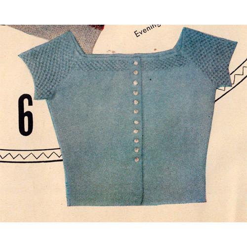 Vintage Cropped Blouse Knitting Pattern