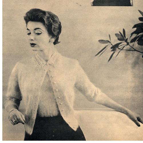 Short Sleeve Angora Cardigan Knitting Pattern