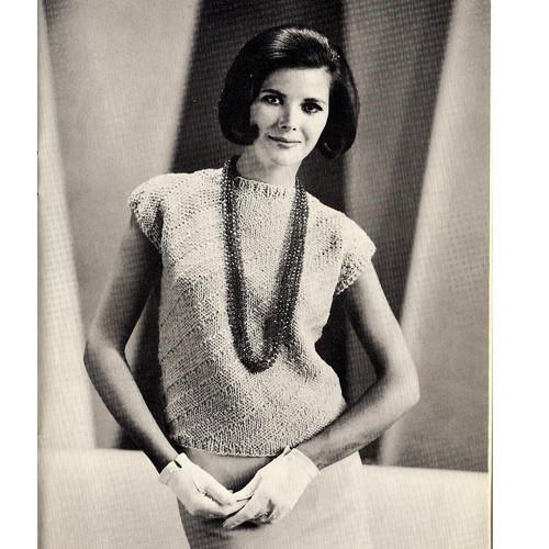 Spiral Knit Shell Pattern, Vintage 1960s